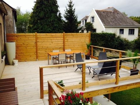 Terrasse Passion Bois Près De Châteaubriant - Terrasse sur pilotis en bois